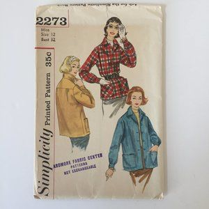 Vintage 1950's Jacket Simplicity Sewing Pattern